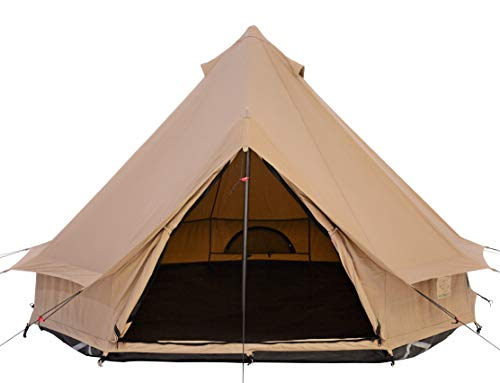 WHITEDUCK Mini Regatta Canvas Bell Tent 8ft (2.5m) - Lightweight Fun Size, Waterproof with Complete Pole Set for 3 Season Camping and Outdoors (8ft (2.5M), Water Repellent)