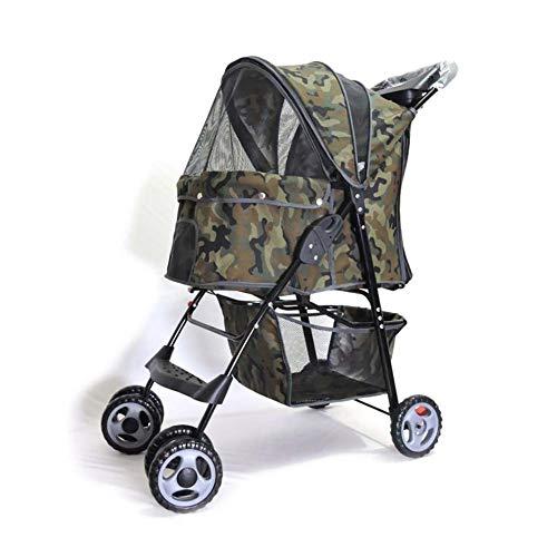 16LYP Behinderung Haustier Hund Katze Tierwagen, Oxford Matte Stoff Kinderwägen, Reisen Pram Behinderte Buggy, for Katzen Hunde Tier, 45 * 67 * 96cm (Color : Camouflage)