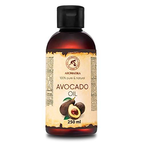 Aceite de Aguacate 250ml - Persea Gratissima Oil - Sudáfrica - 100% Puro y Natural - Mejores Beneficios para Piel - Cabello - Cuerpo - Cuidado Facial - Masaje