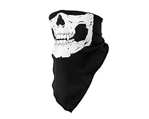 Demarkt–Cráneo–Manguera Máscara Braga Manguera Toalla Cuello con Calavera Poliéster Negro 25x 50cm