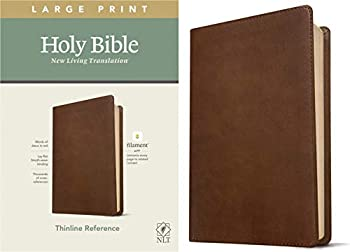 NLT Large Print Thinline Reference Holy Bible  Red Letter LeatherLike Rustic Brown   Includes Free Access to the Filament Bible App Delivering Study Notes Devotionals Worship Music and Video