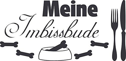 GRAZDesign Wanddekoration Hunde Sprüche Hundesalon - Wandposter Wandsticker Geschenke Meine Imbissbude - Wandtattoo Futterplatz Hund / 62x30cm / 640100_30_073