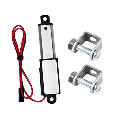 ODOUKEY-TOOLSMicro Linear Actuator Mini Electric Waterproof with Mounting Brackets 12V 60N Stroke Length 50mm Speed 15mm