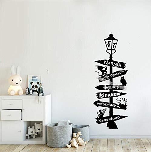 sxh28185171 - Adhesivo decorativo para pared, diseño de Narnia Lonely Mountain Pan Meng Wonderland de jardín de niños, decoración de papel pintado, 30 x 82 cm