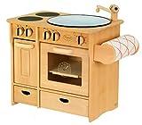 Unbekannt Massive Kombiküche / Kinderküche mit Herd + Spülbecken + Handtuchhalter / Material:...