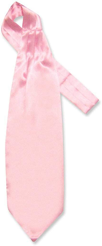 Biagio ASCOT Solid LIGHT PINK Color Cravat Men's Neck Tie