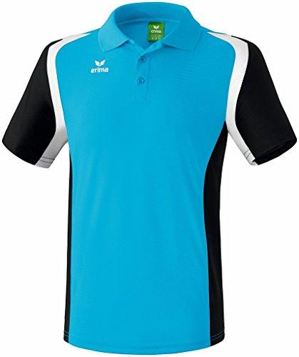 erima Damen Poloshirt Razor 2.0, Curacao/Schwarz/Weiß, 48, 111634