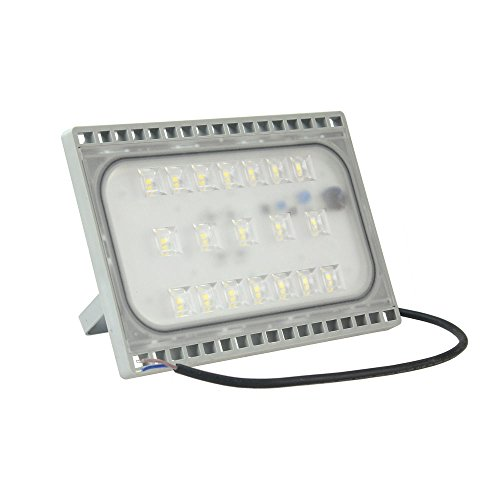 RPGT 50W LED Floodlights, IP65 Outdoor Security Lights, Ultra-Thin Cool White 6500K Spot Light, for Garden, Yard, Square, Warehouse Lighting