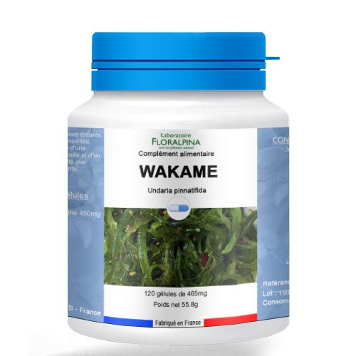Rue Des Plants Wakamé 120 Capsules Helps Promote Good Cholesterol and Cardiovascular Health Powerful Antioxidant