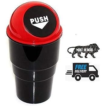 Ionix Mini Car Trash Bin, dustbin for car, car dustbin for swift, car dustbin for creta, car dustbin for i20, car dustbin for honda amaze, Universal mini car trash bin (Lid color may vary)