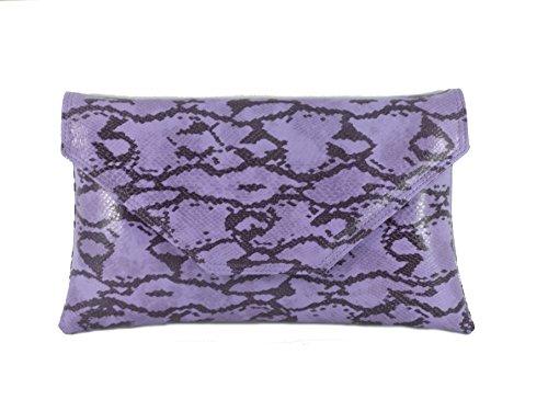 LONI - Cartera de mano para mujer Morado Lilac Mauve Purple Large