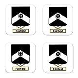 Fairfield Family Crest Square Coasters Coat...