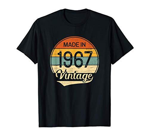 Regalo Hombre Mujer Cumpleaños 54 Años Vintage Made in 1967 Camiseta