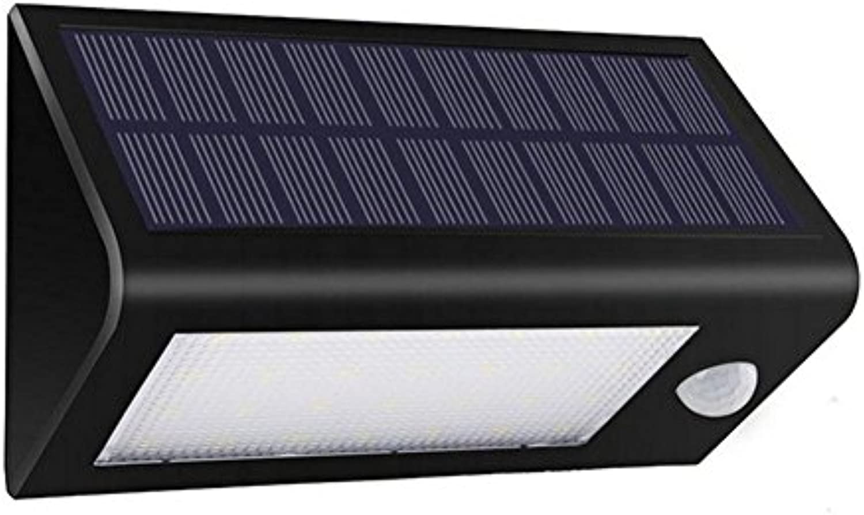 YMXJB Solarbetriebene Sicherheit Fluter - Bewegung aktiviert Lampen- Wireless Outdoor Light- 28 Ultra Bright LEDs- Peel und Stick- Am Besteen für Terrasse, Garten, Path, Pool, Garten, Deck (schwarz)