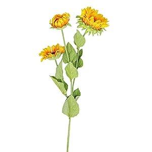 Fine Artificial Flowers, Fake Sunflowers Silk Flowers Table Centerpieces Arrangements Wedding Home Kitchen Office Windowsill Spring Decorations