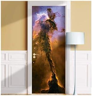Galaxy Door Mural. ONE Piece Sticky Decal, Skin, Wrap, Cover, Poster for Door, Wall or Fridge. All Standard Door Sizes (36...