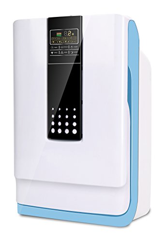 Magic Stream Luftreiniger | Luftfilter gegen Pollen, Feinstaub & Zigaratten-Rauch mit 6-fach Filter 1 & Odor Sensor System