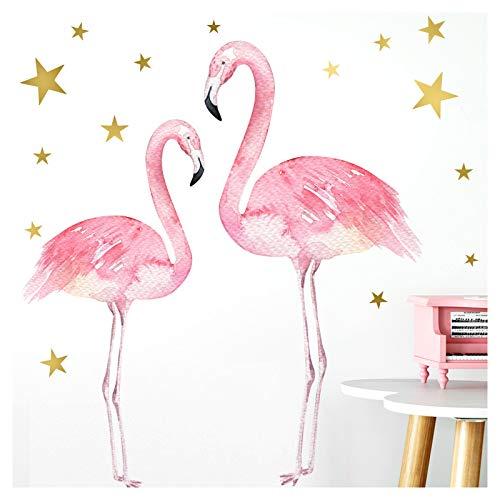 Little Deco Aufkleber Flamingos I A4-21 x 29,7 cm I Mädchenzimmer Wandbilder Kinderzimmer Deko Babyzimmer Junge Wandsticker Kinder Wandtattoo Mädchen DL180