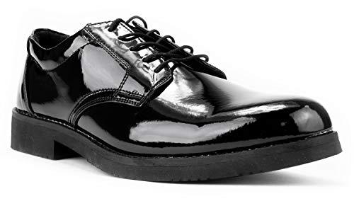 First Class Hi-Gloss Oxford Dress Shoes (12) Black