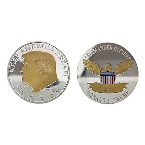 Roping Hot Trump De 2020 Mantener Estados Unidos Gran Prueba De Dos Colores Como Monedas Nuevo Cool Trump Conmemorativa Coins Decoración