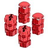 𝐀𝐜𝐭𝐢𝒗𝐢𝐭𝒚 𝐃𝐞𝐚𝐥エクステンションコンバイナー、六角アダプター17mm 1/10ナットスプラインホイールハブRcカーパーツハブアダプターセットナットスプラインホイールハブ、Rcカー用(red)