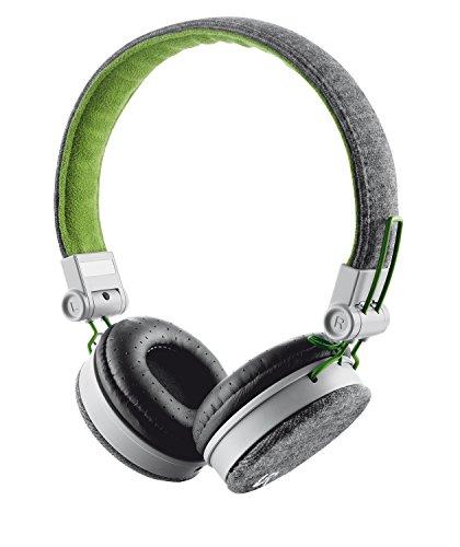 Headphone Dobrável Fyber Compatível com iOS, Android com Microfone Embutido e Cabo de 1.2mt - Cinza/Verde - 20080 - Trust