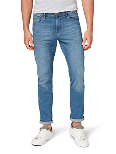 TOM TAILOR Herren Josh Slim Jeans, Blau (Mid Stone Wash Denim 1052), 38W / 34L