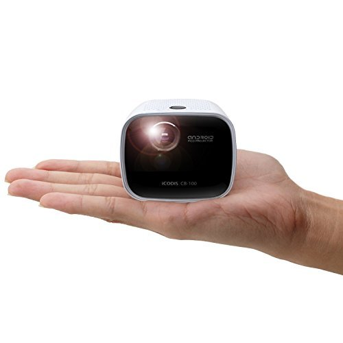 iCODIS CB-100 Pico Projector, Mini Smart Portable Home Theater, Dlp Pocket Entertainment Cinema, 20,000 Hours Led Life