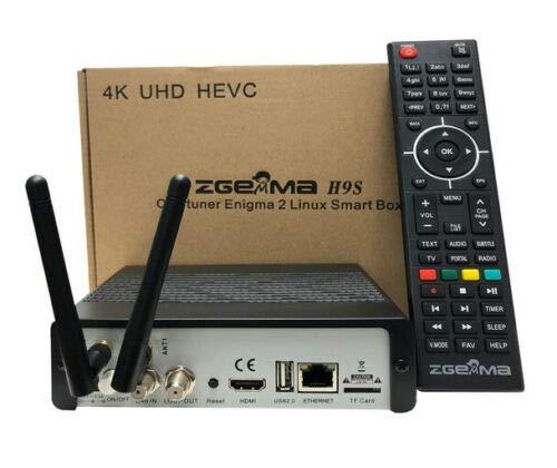 SleekView Zgemma H9S Enigma 2 IPTV Ultra HD 4K FTA UHD Stalker DVB S2X Receptor de satélite