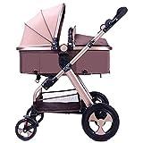 Olydmsky Landau bebe,Léger et poussette High-avis peuvent être allongée pliage chariot de suspension enfants
