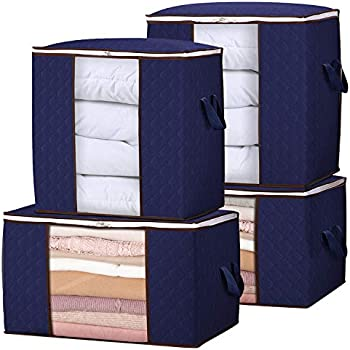 4-Pack Lifewit Reinforced Handle Firm Fabric Storage Container Set