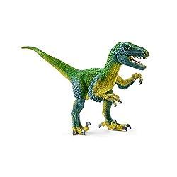 6. Schleich Dinosaurs Velociraptor Educational Figurine