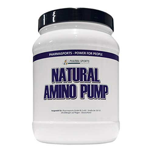 Natural Amino Pump Arginina, citrulina, glycina, ornitina, taurina, tirosina.