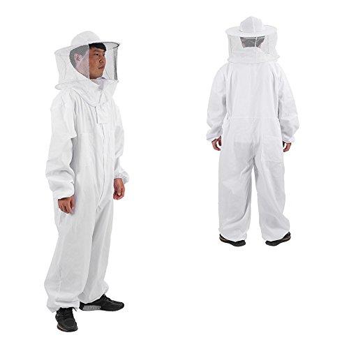 Zyyini Imkerei-Anzug, atmungsaktives Polyester Bequemer Leichter Imkerschutzanzug Ganzkörper-Schutzanzug, unverzichtbares Werkzeug für Imker(1# L)