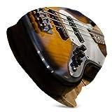 Bajo Guitarra Bajo E Invierno Beanie Hat Bufanda Set Forro Polar Warm Knit Grueso Cráneo Cap para