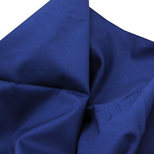 "Pre-Cut Quilting Cotton Twill Navy Blue Candy Color Fabric,Good Quality Craft Cloth,DIY for Sewing Crafting 61"" by 1 Yard Rose Flavor"
