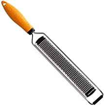 Deiss PRO Citrus Zester & Cheese Grater — Parmesan Cheese Lemon, Ginger, Garlic, Nutmeg, Chocolate, Vegetables, Fruits - Razor-Sharp Stainless Steel Blade Wide Dishwasher Safe