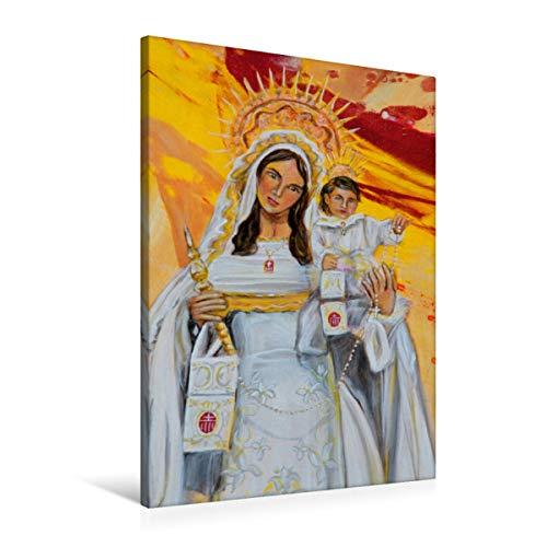 Premium - Lienzo de 60 x 90 cm de alto, diseño del calendario flamenco de flamenco, cuadro sobre bastidor, imagen sobre lienzo auténtico, impresión sobre lienzo: María y Jesús (arte calvendo)