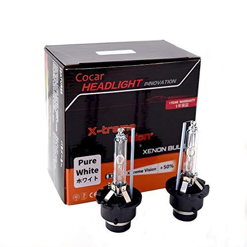 Auto D1S / D2S / D3S / D4S / D2R / D4R Xenon koplamp HID lampen 5000K / 8000K meer licht helderheid diamant wit koplamp met metalen chassis 35 Watt 12 V (2 lampen) D4R - 5000K