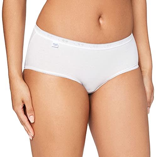 sloggi Basic+ Midi - Lot de 3 - Culotte taille basse femme - Très confortable - Coton doux et respirant, avec ceintures élastiques - Disponible du 40 au 50