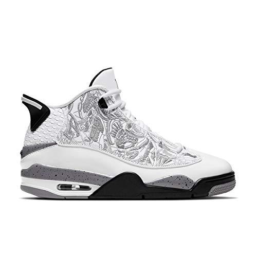 Nike Air Jordan Dub Zero, Scarpe da Basket Uomo, White/Varsity Red-Cement Grey-Black, 43 EU