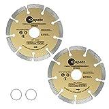 Dapetz  2 x 115mm 4.5' Diamond Disc Cutting Blade Angle Grinder Stone Brick Concrete