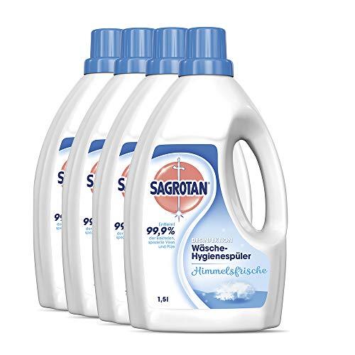 Sagrotan Wäsche-Hygienespüler Frisch, Desinfektionsspüler für hygienisch saubere und frische Wäsche, 4 Stück (4 x 1,5l)