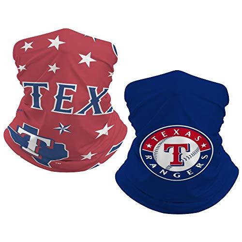 G-III Sports Texas Rangers 2 PCS Kids Bandana Face Covers Headband Balaclava Boys Girls Neck Gaiter