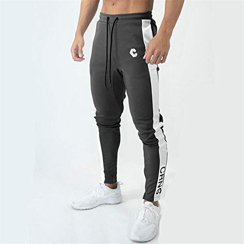 Casual skinny broek heren jogger joggingbroek gym fitness workout trainingsbroek mannelijk lopen sport katoenen broek M. C2