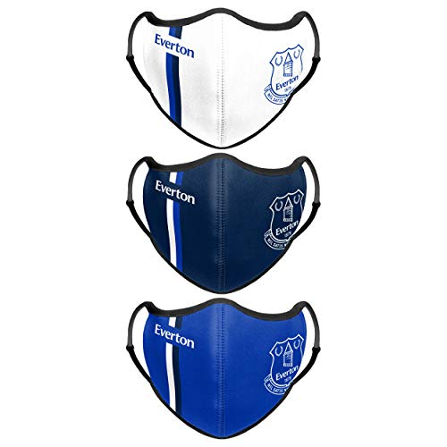 Forever Collectibles UK EVERTON FC SPORT FACE COVER - 3 PACK WH
