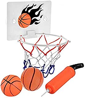 SEISSO Mini Basketball Hoop and Balls - Bedroom Bathroom Toilet Office Desktop Mini Basketball Decompress Game Gadget Toy Home Decor for Kids Boys Girls and Basketball Lovers