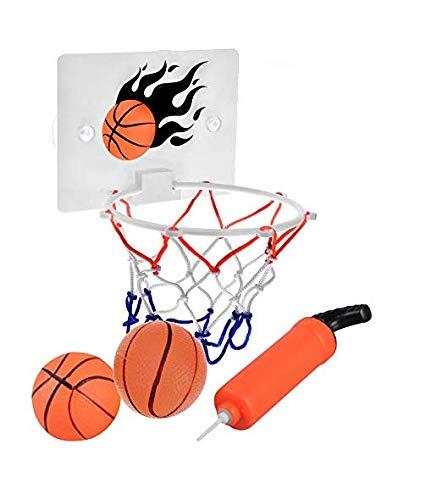 SEISSO Mini Basketball Hoop and Balls - Bedroom Bathroom Toilet Office Desktop Mini Basketball Decompress Game Gadget Toy Home Decor for Kids Boys...