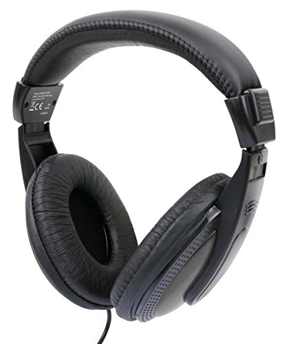 DURAGADGET Auriculares De Diadema para Portátil HP 17-BY0320NG, HP Elitebook 840 G5, HP Notebook 15-bs127ns - Negro Y Blanco