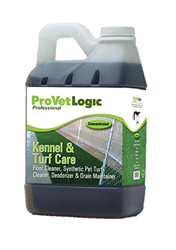 ProVetLogic Kennel & Turf Care- Floor Cleaner, Synthetic Pet Turf Cleaner, Deodorizer & Drain Maintainer (Concentrated)- 1/2 Gallon